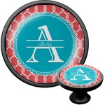 Linked Rope Cabinet Knob (Black) (Personalized)