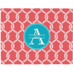 Linked Rope Woven Fabric Placemat - Twill w/ Name and Initial