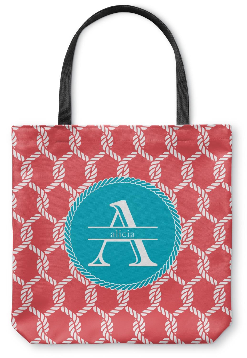 Linked Rope Canvas Tote Bag Small 13 Quot X13