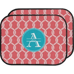Linked Rope Car Floor Mats (Back Seat) (Personalized)