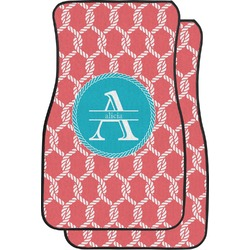 Linked Rope Car Floor Mats (Front Seat) (Personalized)