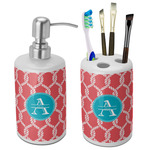 Linked Rope Bathroom Accessories Set (Ceramic) (Personalized)
