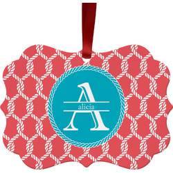 Linked Rope Ornament (Personalized)