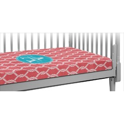Linked Rope Crib Fitted Sheet (Personalized)