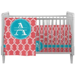 Linked Rope Crib Comforter / Quilt (Personalized)