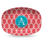 Linked Rope Plastic Platter - Microwave & Oven Safe Composite Polymer (Personalized)
