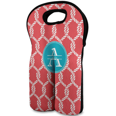 Linked Rope Wine Tote Bag (2 Bottles) (Personalized)