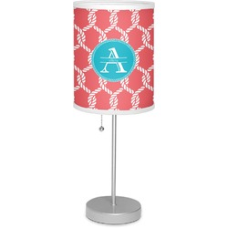 """Linked Rope 7"""" Drum Lamp with Shade Linen (Personalized)"""