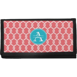 Linked Rope Canvas Checkbook Cover (Personalized)