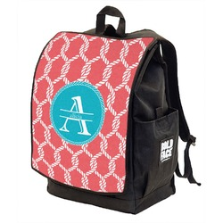 Linked Rope Backpack w/ Front Flap  (Personalized)