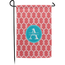 Linked Rope Garden Flag With Pole (Personalized)
