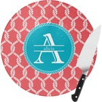 Linked Rope Round Glass Cutting Board (Personalized)