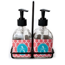 Linked Rope Soap & Lotion Dispenser Set (Glass) (Personalized)