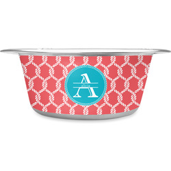 Linked Rope Stainless Steel Dog Bowl (Personalized)