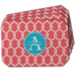 Linked Rope Dining Table Mat - Octagon w/ Name and Initial