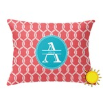 Linked Rope Outdoor Throw Pillow (Rectangular) (Personalized)