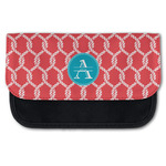 Linked Rope Canvas Pencil Case w/ Name and Initial