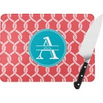 Linked Rope Rectangular Glass Cutting Board (Personalized)
