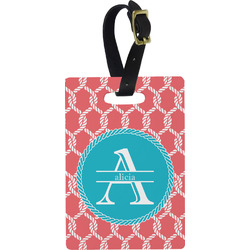 Linked Rope Rectangular Luggage Tag (Personalized)