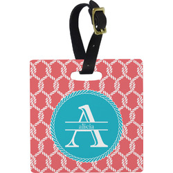 Linked Rope Square Luggage Tag (Personalized)