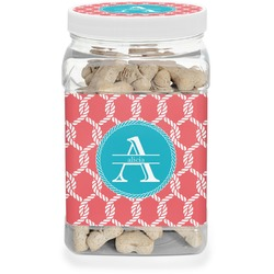 Linked Rope Pet Treat Jar (Personalized)