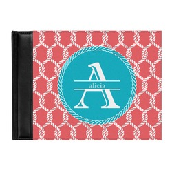 Linked Rope Genuine Leather Guest Book (Personalized)