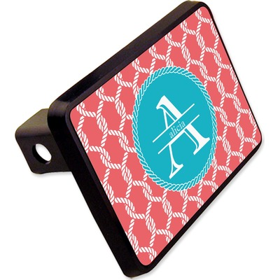 """Linked Rope Rectangular Trailer Hitch Cover - 2"""" (Personalized)"""