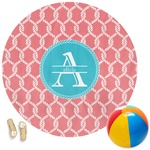Linked Rope Round Beach Towel (Personalized)
