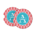Linked Rope Sandstone Car Coasters (Personalized)