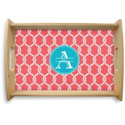 Linked Rope Natural Wooden Tray - Small (Personalized)