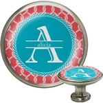 Linked Rope Cabinet Knob (Silver) (Personalized)