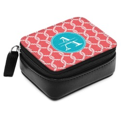 Linked Rope Small Leatherette Travel Pill Case (Personalized)