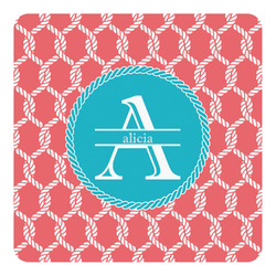 Linked Rope Square Decal - Medium (Personalized)
