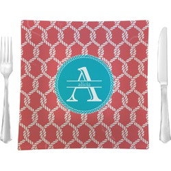 Linked Rope Square Dinner Plate (Personalized)