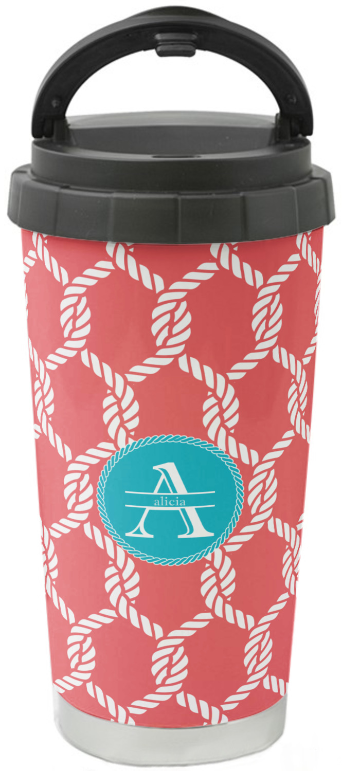 Linked Rope Stainless Steel Travel Mug Personalized