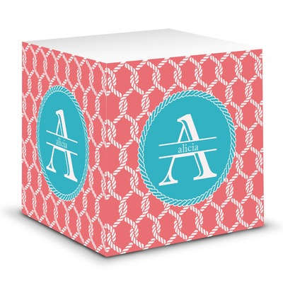 Linked Rope Sticky Note Cube (Personalized)