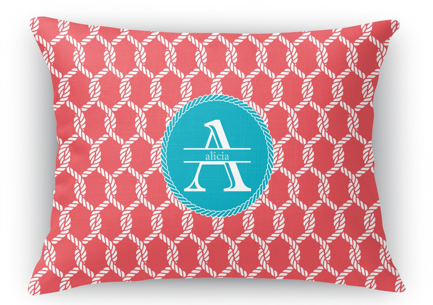 Rectangular Throw Pillow Dimensions : Linked Rope Rectangular Throw Pillow - 18