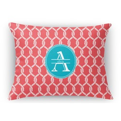 Linked Rope Rectangular Throw Pillow (Personalized)