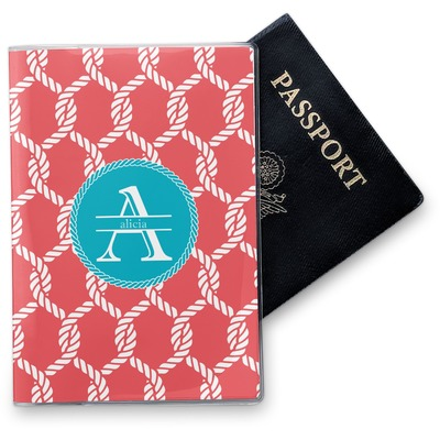 Linked Rope Vinyl Passport Holder (Personalized)