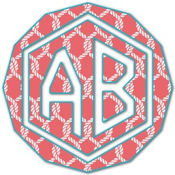 Linked Rope Monogram Decal - Medium (Personalized)