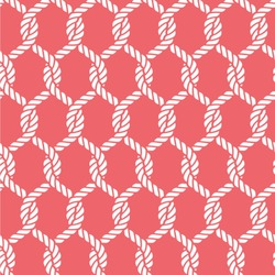 """Linked Rope Wallpaper & Surface Covering (Peel & Stick 24""""x 24"""" Sample)"""