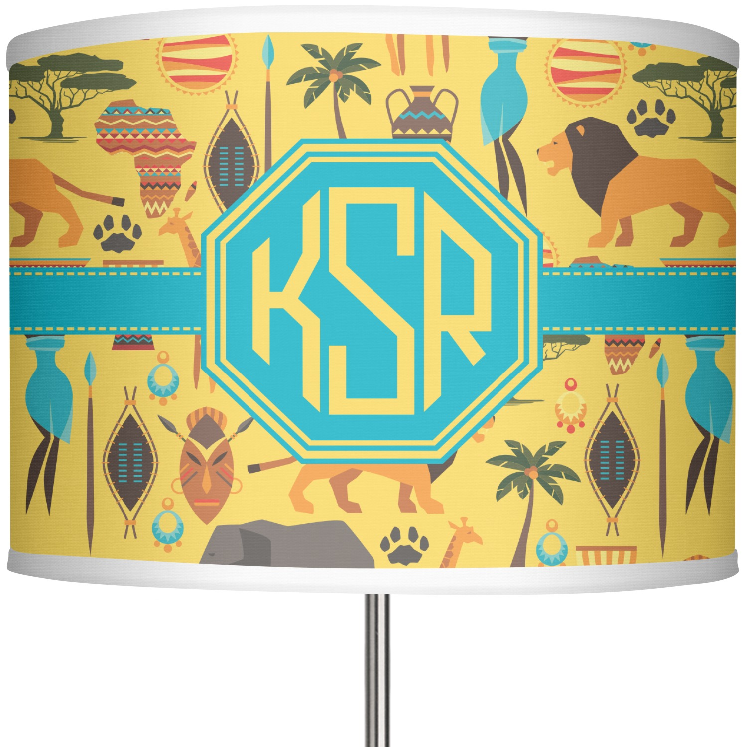 African Safari 13 In Drum Lamp Shade Main