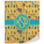 African Safari Sherpa Throw Blanket (Personalized)