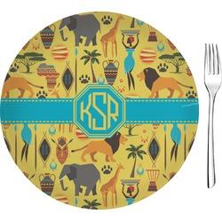 "African Safari 8"" Glass Appetizer / Dessert Plates - Single or Set (Personalized)"