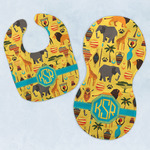 African Safari Baby Bib & Burp Set w/ Monogram