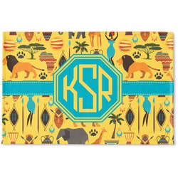 African Safari Woven Mat (Personalized)