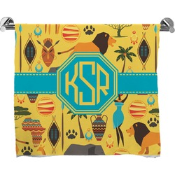African Safari Full Print Bath Towel (Personalized)