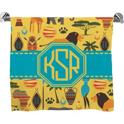 African Safari Full Print Bath Towel Personalized Youcustomizeit