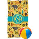 African Safari Beach Towel (Personalized)