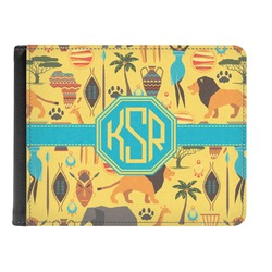 African Safari Genuine Leather Men's Bi-fold Wallet (Personalized)